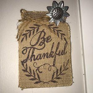 Be thankful wall piece